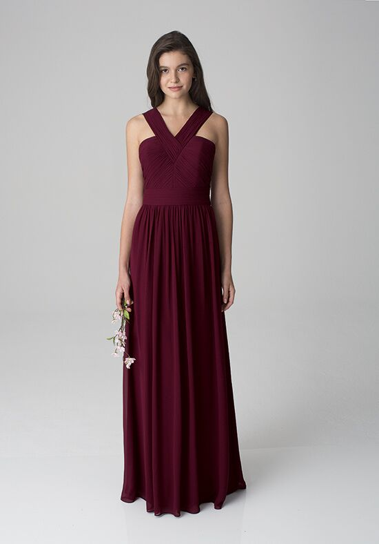 Bill Levkoff 1276 V-Neck Bridesmaid Dress