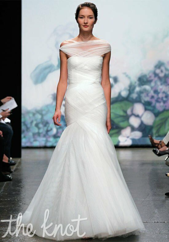 Monique Lhuillier Emotion Sheath Wedding Dress