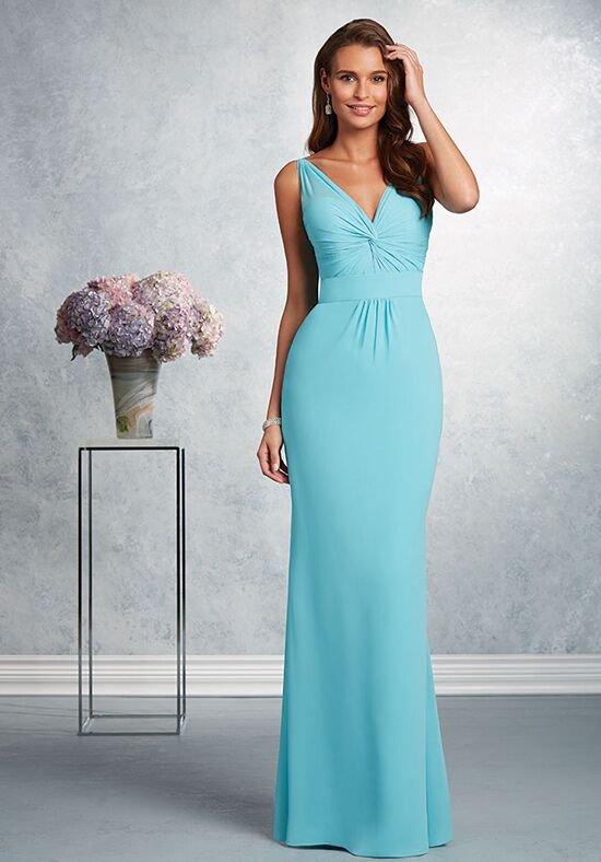 Alfred Angelo Signature Bridesmaids Collection 7404 V-Neck Bridesmaid Dress