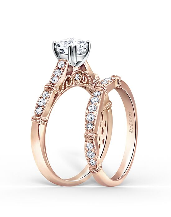 Kirk Kara Stella Collection K196R-B Rose Gold Wedding Ring