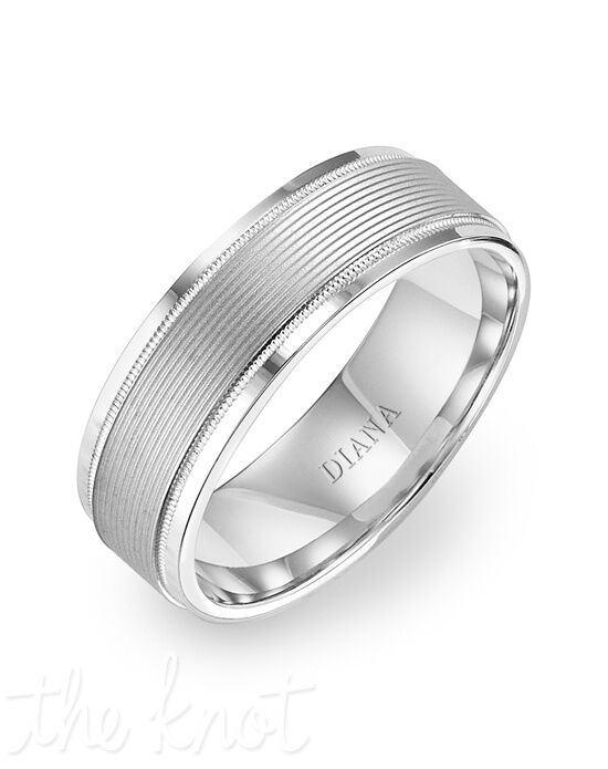 Diana 11-N7647W75-G Palladium, Platinum Wedding Ring