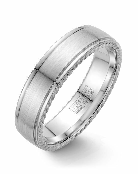 CrownRing WB-005R6W-M10 White Gold Wedding Ring
