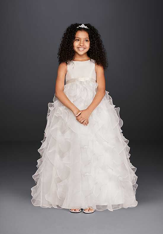 David's Bridal Flower Girl David's Bridal Style H1281 White Flower Girl Dress