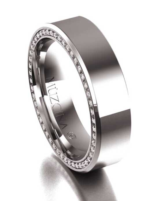 MÜZCINA by JJBückar BX30-H-100-D-XX-EB-18P-PX-65 Palladium, White Gold Wedding Ring