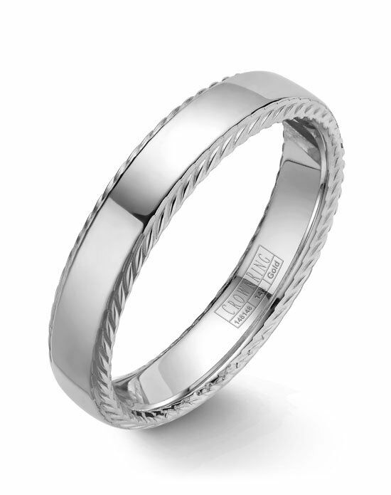 CrownRing WB-007R5W-M10 White Gold Wedding Ring