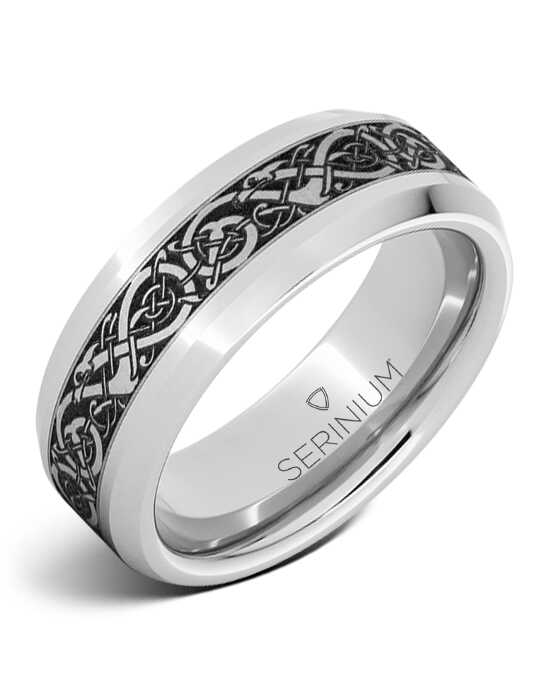 Serinium® Collection Viking Chieftain — Engraved Serinium® Ring-RMSA005977 Serinium® Wedding Ring