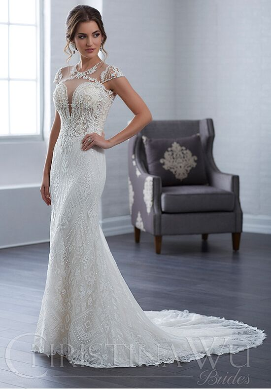 Christina Wu 15663 Sheath Wedding Dress