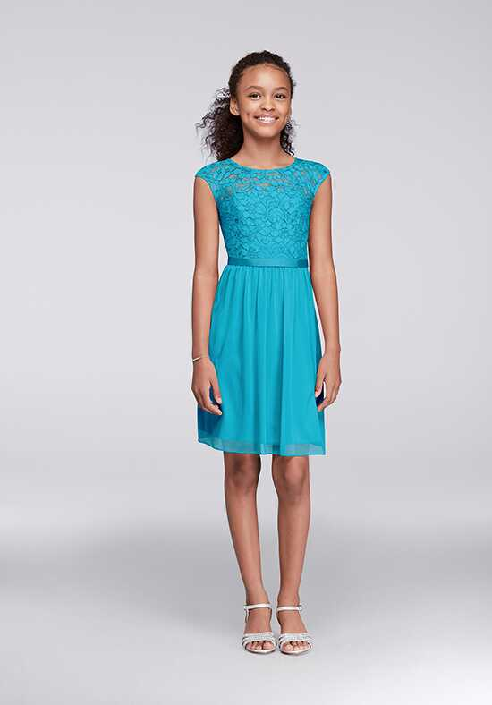 David's Bridal Junior Bridesmaids David's Bridal Style JB9477 Illusion Bridesmaid Dress