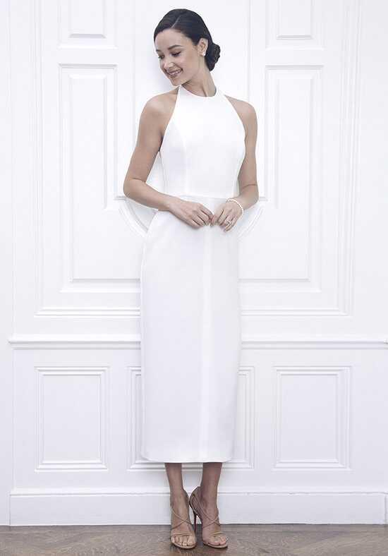 jane summers sarah white midi length halter dress