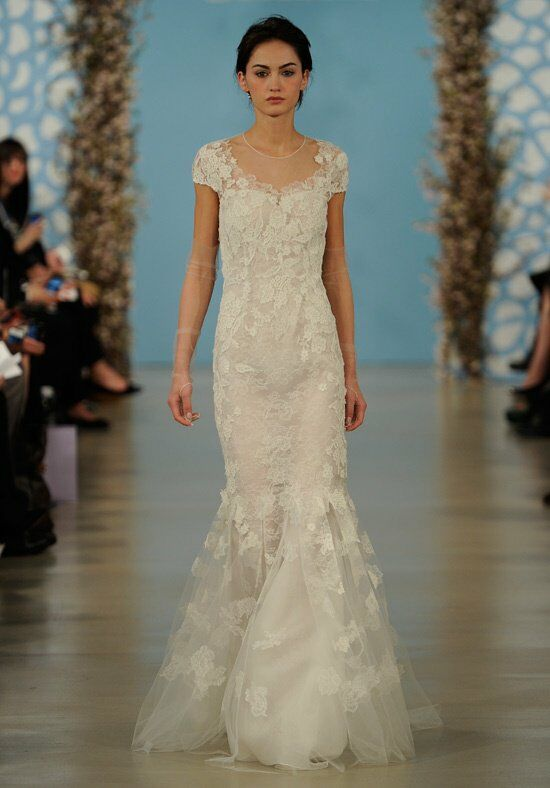 Oscar de la Renta Bridal 2014 Look 17 Sheath Wedding Dress