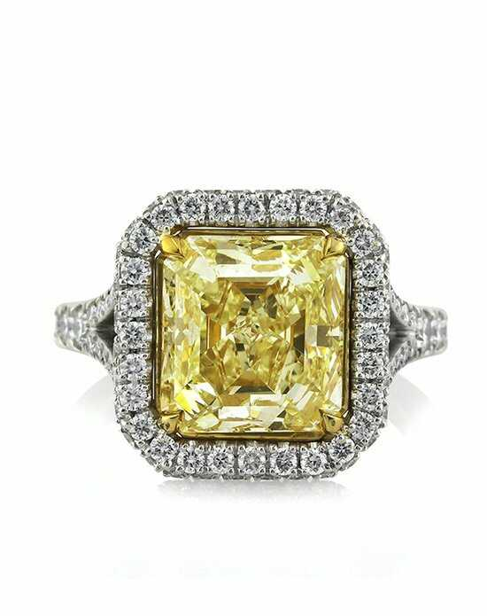 Mark Broumand 6.27ct Fancy Light Yellow Asscher Cut Diamond Engagement Ring Engagement Ring photo