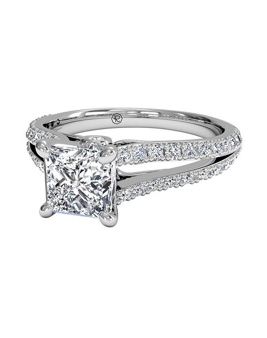 Ritani Princess Cut Double French-Set Diamond 'V' Band ...