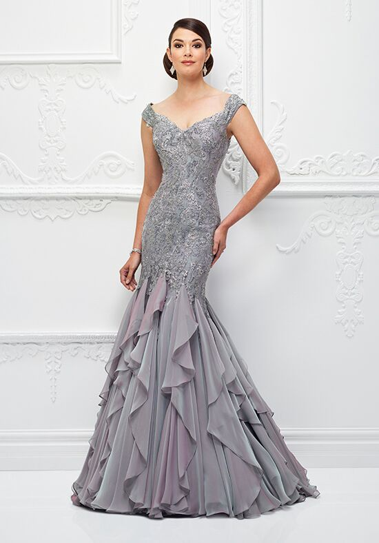 Ivonne D. 118D01 Gray Mother Of The Bride Dress