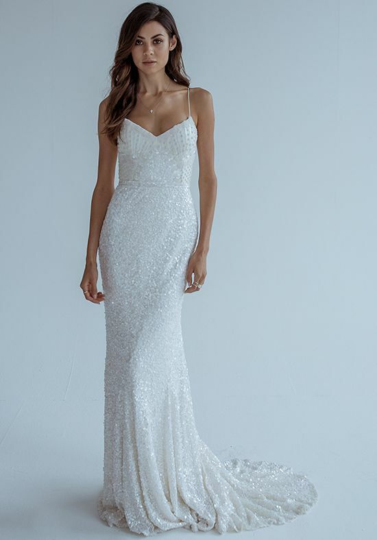KAREN WILLIS HOLMES Lottie Mermaid Wedding Dress