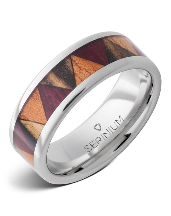 Serinium® Collection Parquet — Exotic Wood Inlay Serinium® Ring-RMSA002904 Serinium® Wedding Ring