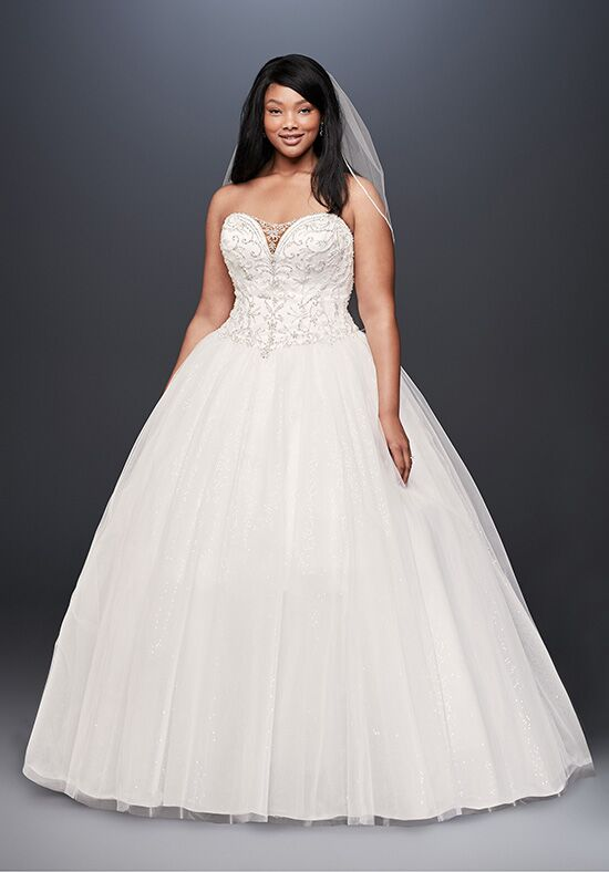 David's Bridal David's Bridal Collection Style 9V3849 Ball Gown Wedding Dress