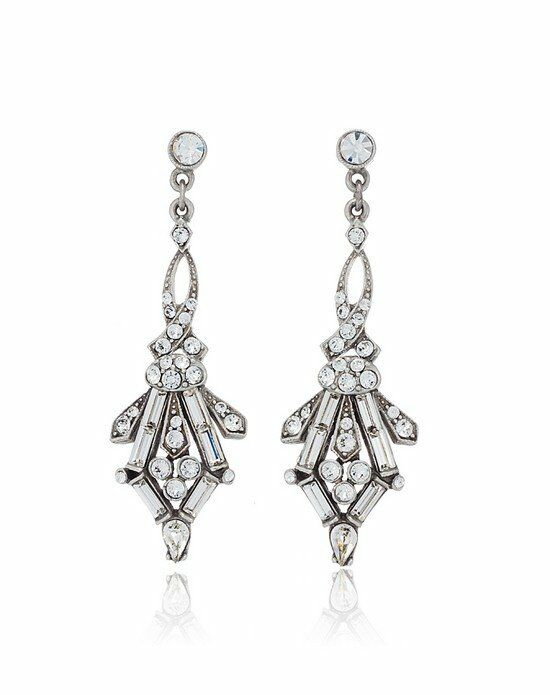 Thomas Laine Ben-Amun 1920s Style Juliet Crystal Earrings Wedding Earring photo