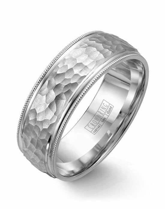 CrownRing WB-7914-M10 White Gold Wedding Ring