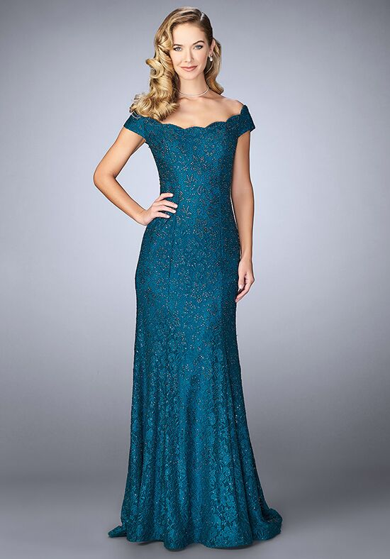 La Femme Evening 24928 Blue Mother Of The Bride Dress