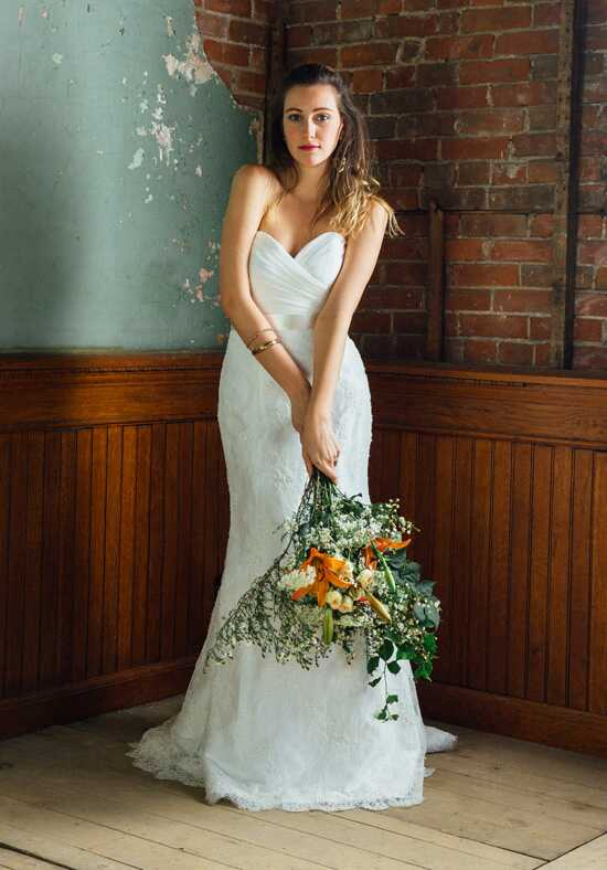 Lea-Ann Belter Indigo Mermaid Wedding Dress