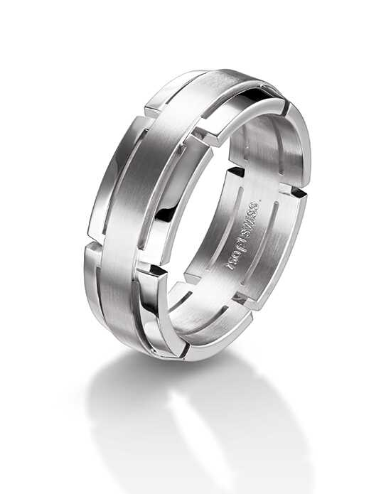 Furrer Jacot Wedding Bands 71-28780 White Gold Wedding Ring