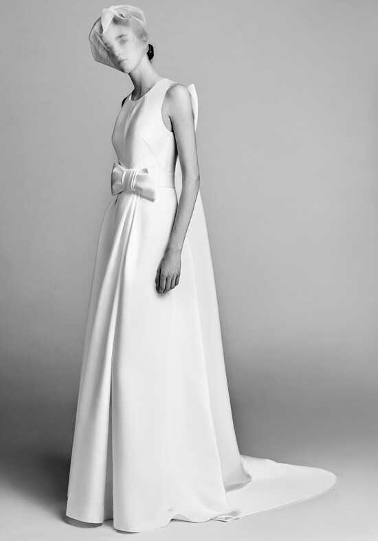Viktor&Rolf Mariage Watteau Pleat Column Dress A-Line Wedding Dress