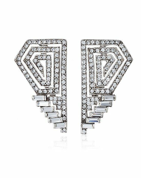 Thomas Laine Ben-Amun Crystal Deco Bridal Earrings Wedding Earring photo
