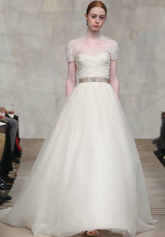 Reem Acra Orchid Ball Gown Wedding Dress