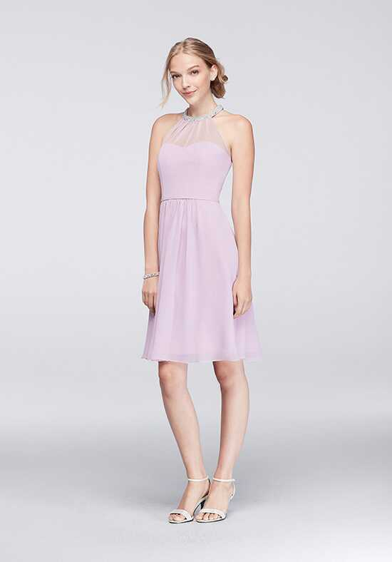 David's Bridal Collection David's Bridal Style W11082 Halter Bridesmaid Dress