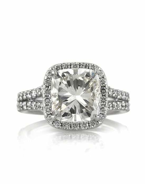 Mark Broumand. 4.82ct Cushion Cut Diamond Engagement Anniversary Ring