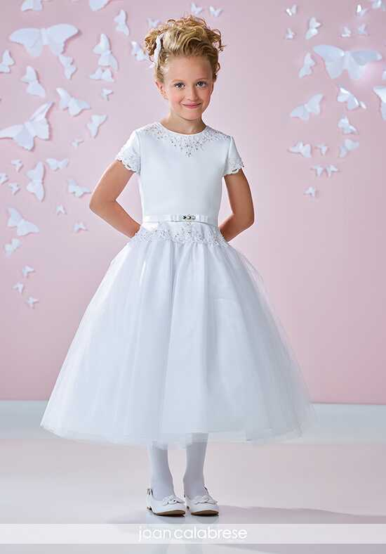 Joan Calabrese by Mon Cheri 117363 Ivory Flower Girl Dress