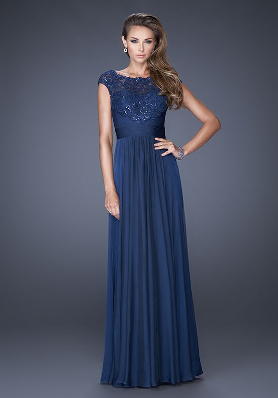 La Femme Evening 19487 Blue Mother Of The Bride Dress