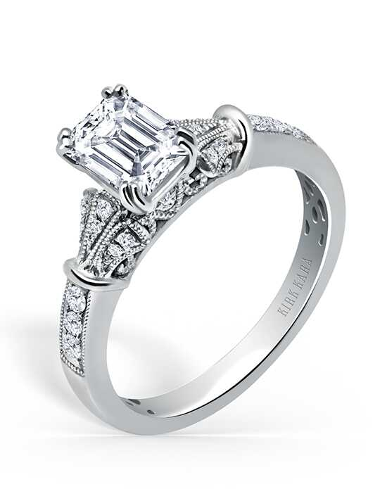 Kirk Kara Elegant Emerald Cut Engagement Ring