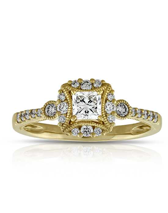Ben Bridge Jeweler Vintage Princess, Round Cut Engagement Ring