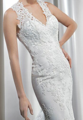 Demetrios 1435 Sheath Wedding Dress