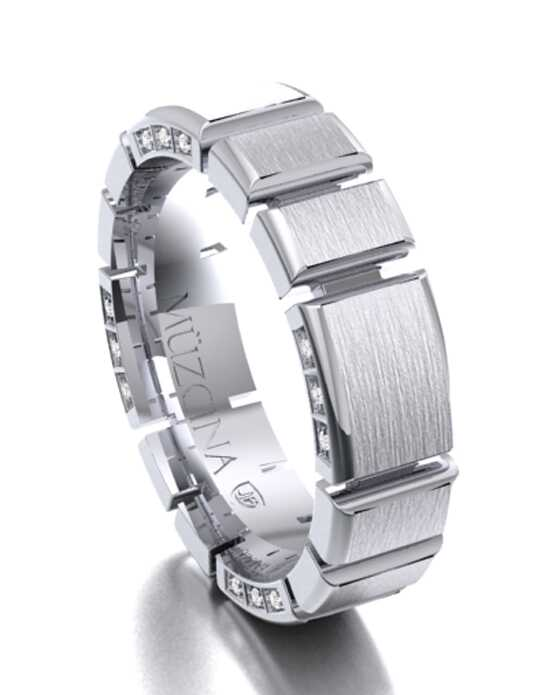 MÜZCINA by JJBückar BX35-H-100-D-XX-EB-PLT-BX-65 Platinum Wedding Ring