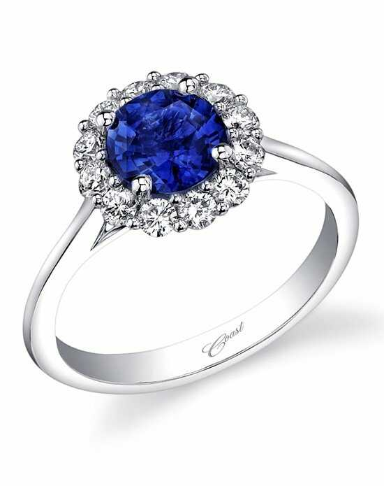 Coast Diamond Round Halo Sapphire Engagement Ring-LC5205-S Engagement Ring photo