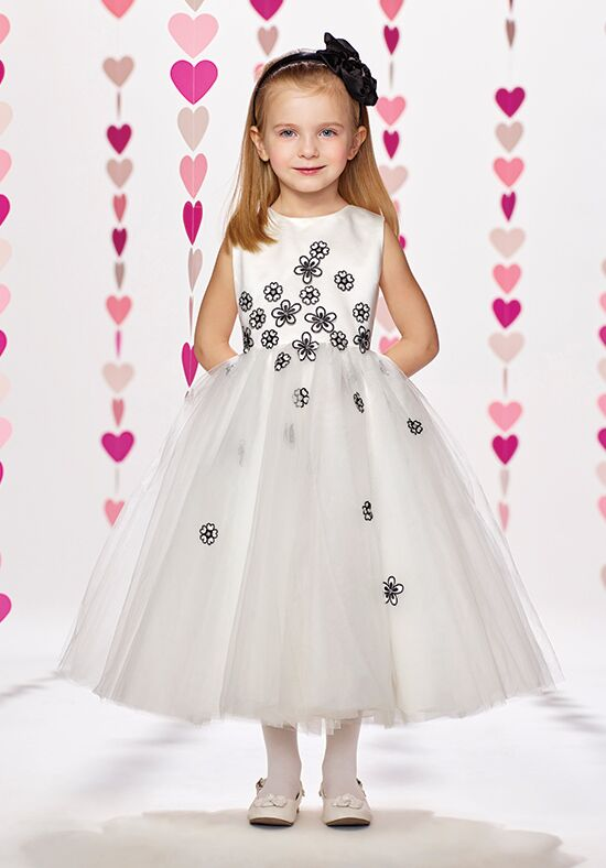Joan Calabrese by Mon Cheri 217380 Black Flower Girl Dress