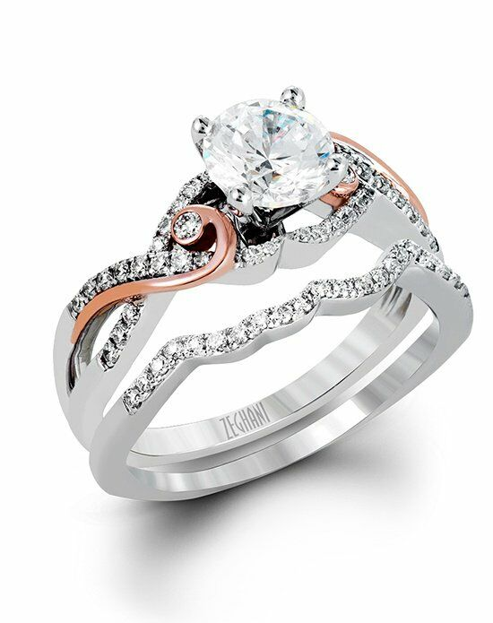 Zeghani Round Cut Engagement Ring