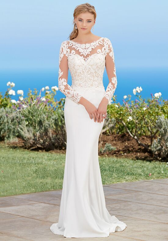 KITTYCHEN LORRAINE, H1756 Sheath Wedding Dress