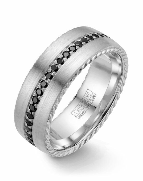 CrownRing WB-002RD8W-M10 White Gold Wedding Ring