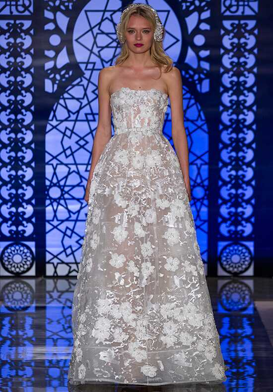 Reem Acra Veronique A-Line Wedding Dress