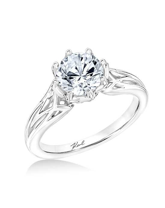 KARL LAGERFELD Elegant Round Cut Engagement Ring