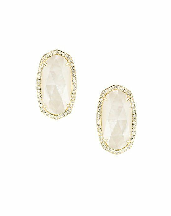 Kendra Scott Elsie Stud Earrings in Ivory Pearl Wedding Earring photo