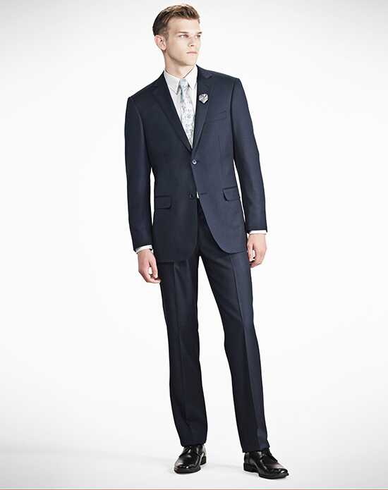 Generation Tux Navy Blue Notch Lapel Suit Wedding Tuxedos + Suit photo