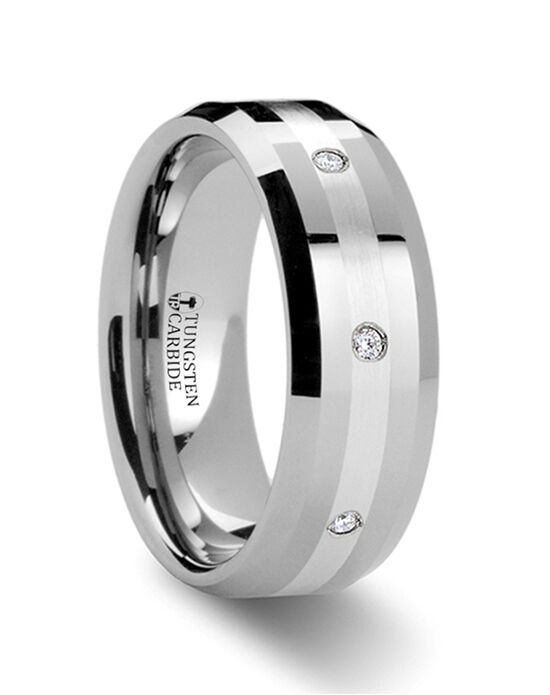 Mens Tungsten Wedding Bands W314-BTDWB Tungsten Wedding Ring