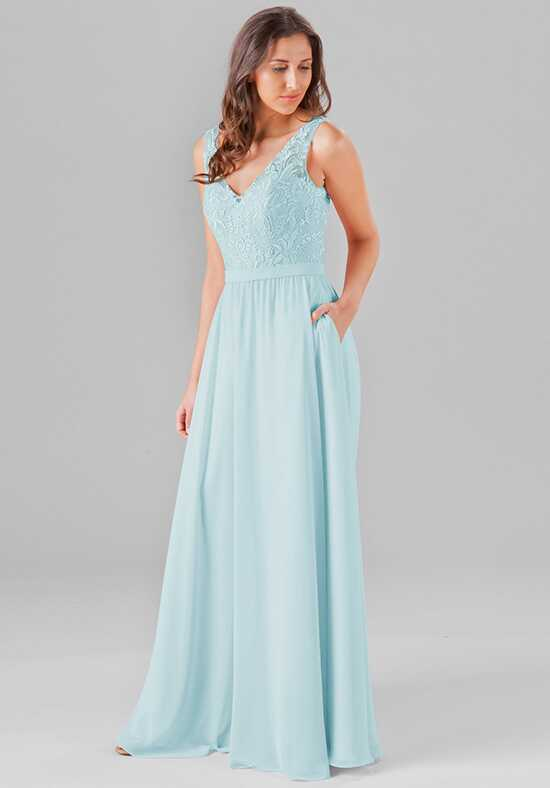Kennedy Blue Wren V-Neck Bridesmaid Dress