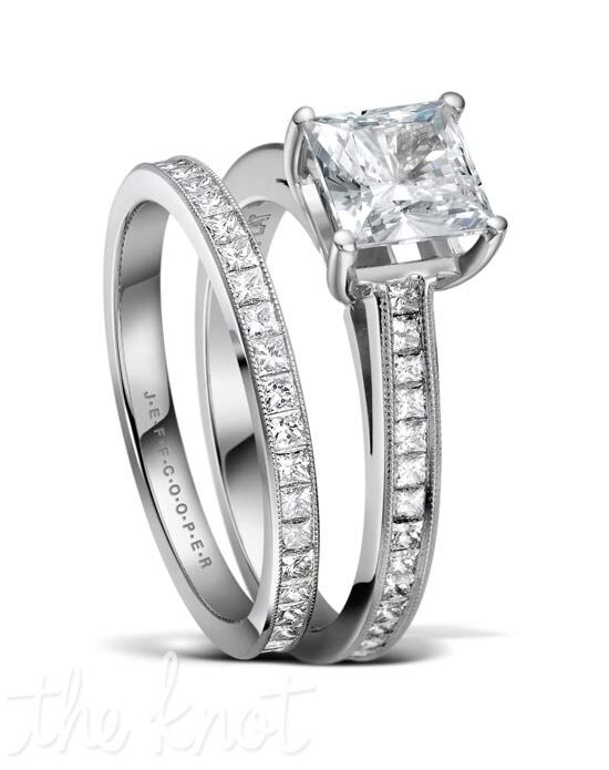 Jeff Cooper R-3302 & R-3302/E Platinum, White Gold Wedding Ring