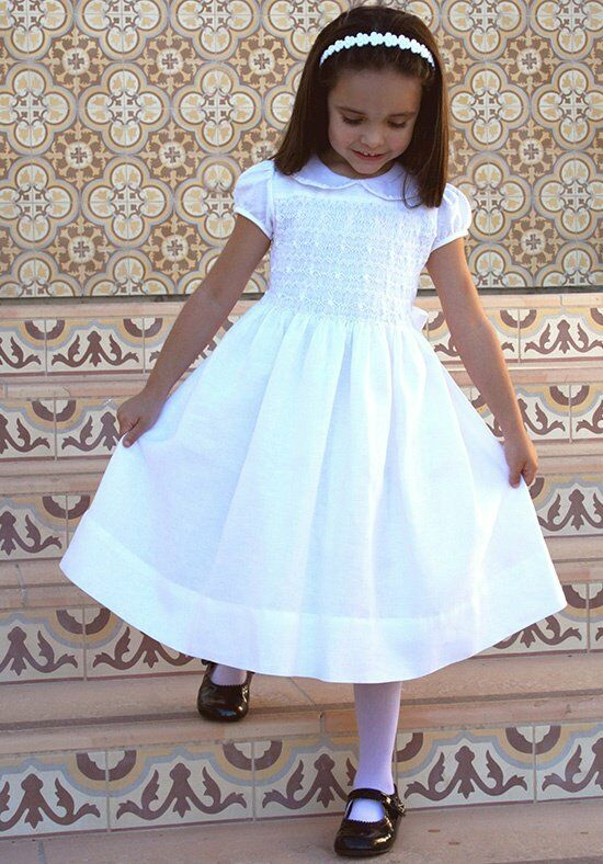 Isabel Garretón Heirloom White Flower Girl Dress
