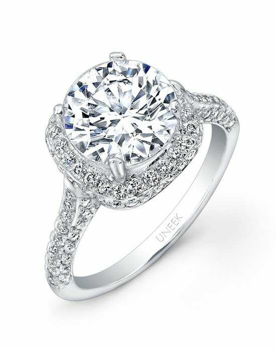 Uneek Fine Jewelry USM03CU-8.0RD Engagement Ring photo